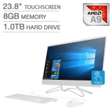 Hot New Computer Deals $565.00 2019 HP 23.8″ FHD Touchscreen IPS-WLED Backlit Micro Edge Display AIO Desktop Computer, 7th Gen AMD A9-9425 Up to 3.7GHz, 8GB DDR4 RAM, 1TB HDD, 802.11AC Wifi, Bluetooth 4.2, HDMI, USB 3.0, Windows 10