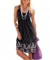 Hot New Women Dresses under $20 13.99 AELSON Womens Summer Casual Sleeveless Mini Printed Vest Dresses