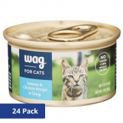 Hot New Pet Products $19.99 Amazon Brand – Wag Wet Cat Food 3 oz (Pack of 24)