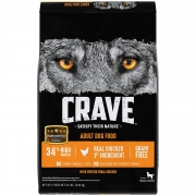 Hot New Pet Products $40.56 Crave Grain Free Adult Dry Dog Food With Protein