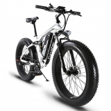 Hot New Electric Bicycle Deals $1,988.15 Cyrusher XF800 Fat Tire Electric Bike 1000W 48V Mens Mountain Bike Snow Ebike 26inch Bicycle Full Suspension Fork Hydraulic Brakes