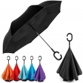 New Hot As Seen On TV Deals $23.95 EEZ-Y Reverse Inverted Windproof Umbrella – Upside Down Umbrellas with C-Shaped Handle for Women and Men – Double Layer Inside Out Folding Umbrella