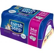 Hot New Pet Products $20.49 Fresh Step with The Power of Febreze, Clumping Cat Litter, 34 Pounds