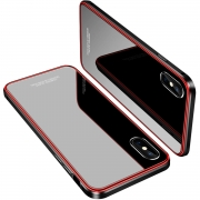 Hot New iPhone X Case Deals18.73  iPhone X Case, MOBYFL Slim Fit Tempered Glass Case with Shockproof Metal Bumper, Anti-Scratch Hard Cover Case for Apple iPhone X/iPhone 10 (Red+Black)