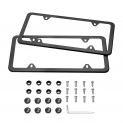 Hot Deals in Automotive Parts and Accessories $7.99 Karoad Black License Plate Frames, 2 PCS Stainless Steel Car Licence Plate Covers Slim Design with Bolts Washer Caps for US Standard (4 Holes)