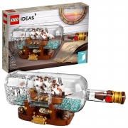 Hot New Tech Gift Deals $64.99 LEGO Ideas Ship in a Bottle 21313 Expert Building Kit, Snap Together Model Ship, Collectible Display Set and Toy for Adults (962 Pieces)