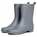 Hot New Women's Winter Boot Deals $14.89 Litfun Womens Black Mid Calf Rain Boots Outdoor Work Waterproof Garden Booties Wide Calf Rain Shoes