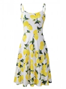 Hot New Women Dresses under $20 13.99 Luckco Women's Sleeveless Adjustable Strappy Summer Floral Flared Swing Dress