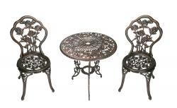 Hot New Patio Set Deals 116.99 Oakland Living 3-Piece Rose Bistro Set with 23.5-Inch Cast aluminum Top Table