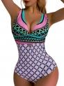 Hot New Plus Size Swimwear $9.99, OGNEE Women One Piece Swimsuit Deep V Cross Back Swimwear,