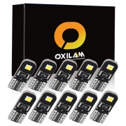 Hot Deals in Automotive Parts and Accessories $8.49 OXILAM 194 LED Bulbs Super Bright 6000K White CANBUS with 2835 Chipsets for T10 W5W 2825 168 LED Interior Bulbs for Parking Lights Door Lights License Plate Lights (10 PCS)