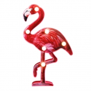 Hot New Holiday Gift Deals $11.89 Pooqla LED Flamingo Marquee Sign Night Light, Flamingo Toy Gift for Summer Party Holiday Home Bedroom Baby Room Decoration (Red)