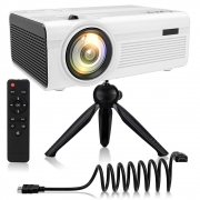 Hot New Home Theater Deals $89.99 QKK 2400Lumens Mini Projector – Home Theater Projector for Indoor & Outdoor Movies & Video Games, Compatible with TV Box, PS4, DVD Player, Smartphones, 50,000 Hours LED Projector