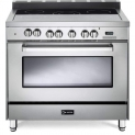 Hot New Range Deals $2,899.00 Verona VEFSEE365SS 36″ Electric Range with 4 cu. ft. European Convection Oven Black Ceramic Glass Cooktop 5 Burners Dual Center Element Chrome Knobs and Handle: Stainless Steel